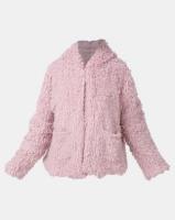 Legit Teddy Fur Coat Blush Photo