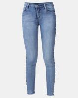 Sissy Boy Jon Jon Low-ride Side Seam Detail Skinny Jeans Med Blue Photo
