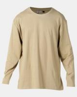 Utopia Basic 100% Cotton Long Sleeve Tee Khaki Photo