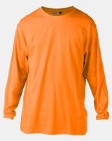 Utopia Basic 100% Cotton Long Sleeve Tee Orange Photo
