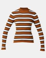 Legit Turtleneck Fitted Stripe Sweater Multi Photo