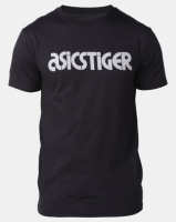 ASICSTIGER Silver Logo Tee Black Photo