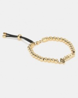 Guess Be My Friend Beads and Logo Bracelet Gold-Plated Photo