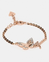 Guess Love Butterfly Charm Rose Gold-Plated Photo