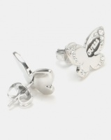 Guess Love Butterfly Stud Earrings Silver-Plated Photo