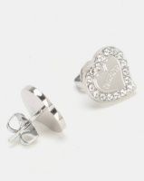 Guess Heart Warming Stud Earrings Silver-Plated Photo