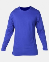 Utopia Basic 100% Cotton Long Sleeve Tee Cobalt Blue Photo