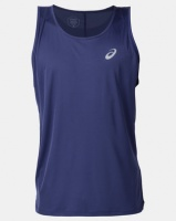 ASICS Silver Singlet Blue Photo
