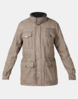Jeep Sherpa Lined & Padded Twill Military Jacket Khaki Photo