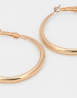 All Heart Chunky Hoop Earrings Gold Photo