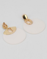 All Heart Disk Drop Earring White Photo