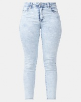 Legit Fray Hem Skinny Jeans Marble Light Wash Photo