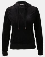 Legit Velour Hooded Pullover Black Photo