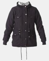 Legit Sherpa Lined Parka Jacket Black Photo