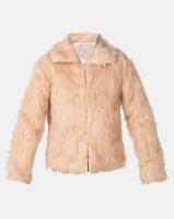 Legit Long Sleeve Fur Jacket Natural Photo