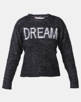 Legit Fluffly Pullover with Dream Slogan Black Photo