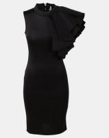 Fred Tsuya Long Scuba Dress Black Photo