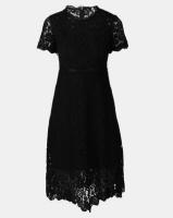 Fred Tsuya Lace Beaded Dress Black Photo