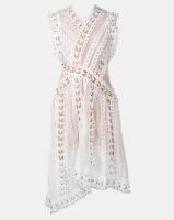Fred Tsuya Zig Zag Stud Dress White Photo