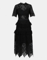 Fred Tsuya Black Stacey Lace Dress Photo