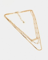 New Look Chain Layered Pendant Necklace Gold Photo