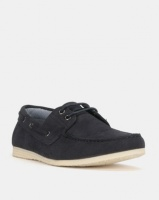 New Look Fortune Suedette Boat Shoes Navy Photo