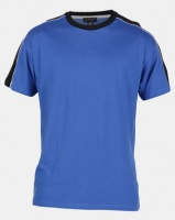 New Look Piped Panel Oversized T-Shirt Blue Photo
