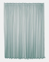 Design Collection Plain Voile 500 x 218 Taped Curtains White Photo