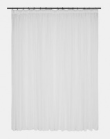 Design Collection Plain Voile 500 x 250 Taped Curtains White Photo