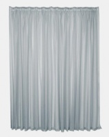 Design Collection Plain Voile 500 x 250 Taped Curtains Grey Photo