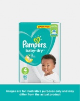 Pampers Active Baby Maxi Giant Pack 80 Twin Pack Photo
