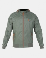 Crosshatch Bowmont Camo Zip Through Jacket Green Photo