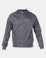 Crosshatch Bowmont Camo Zip Through Jacket Charcoal Photo