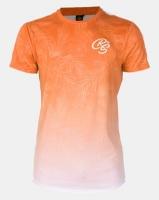 Crosshatch Salicornia Floral Print T-shirt Orange Photo