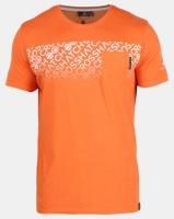 Crosshatch Orange Westfan Chest Print with Pocket T-shirt Photo
