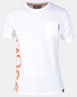 Crosshatch Highgate Side Logo with Pocket T-shirt White Photo