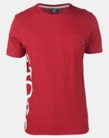 Crosshatch Highgate Side Logo with Pocket T-shirt Red Photo