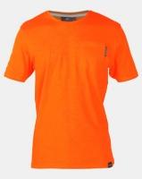 Crosshatch Odonata Slub Pocket T-shirt Orange Photo
