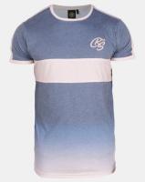 Crosshatch Denim Blue Brontes Chest Stripe Ombre T-shirt Photo
