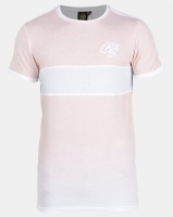 Crosshatch Pink Brontes Chest Stripe Ombre T-shirt Photo