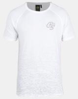 Crosshatch Linecamo Printed T-shirt White Photo