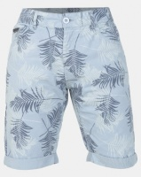 Smith & Jones Dusty Blue Morford Floral Printed Twill Short Photo