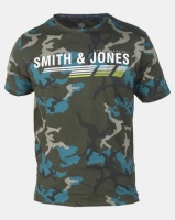 Smith & Jones Forest Night Garvis Camo Branded T-shirt Green Photo