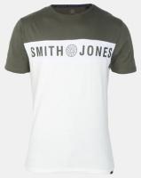 Smith & Jones Forest Grey Night Blocked T-shirt Photo