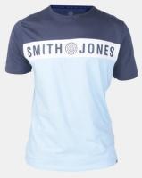 Smith & Jones Insignia Blue Blocked T-shirt Photo
