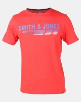 Smith & Jones Poppy Axten Logo T-shirt Red Photo