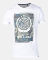 Smith & Jones Henton Graphic Print T-shirt White Photo
