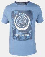Smith & Jones Captain Blue Henton Graphic Print T-shirt Blue Photo