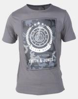 Smith & Jones Castlerock Henton Graphic Print T-shirt Grey Photo