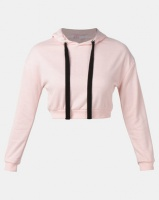 Legit Fleece Pullover Hoodie With Velour Tape Detail Pale Salmon Photo